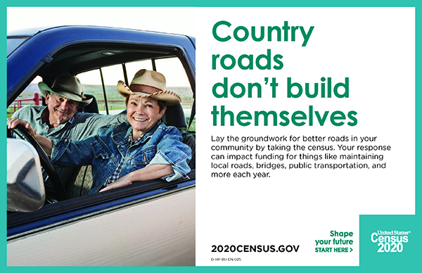 County roads don't build themselves banner