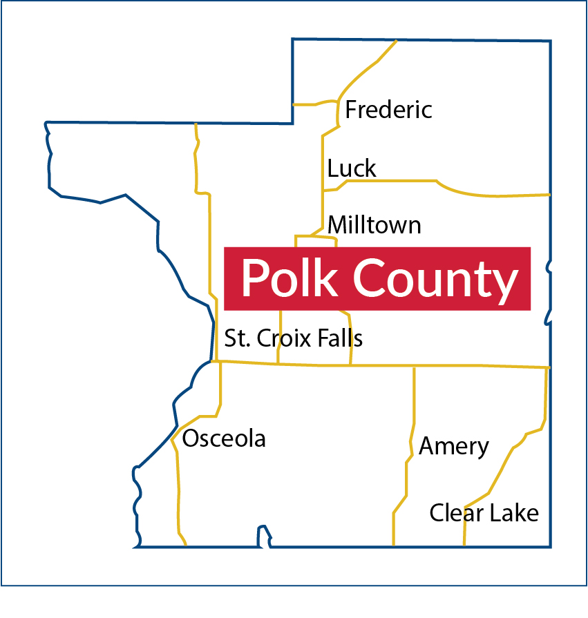 Map of Polk County, Wisconsin