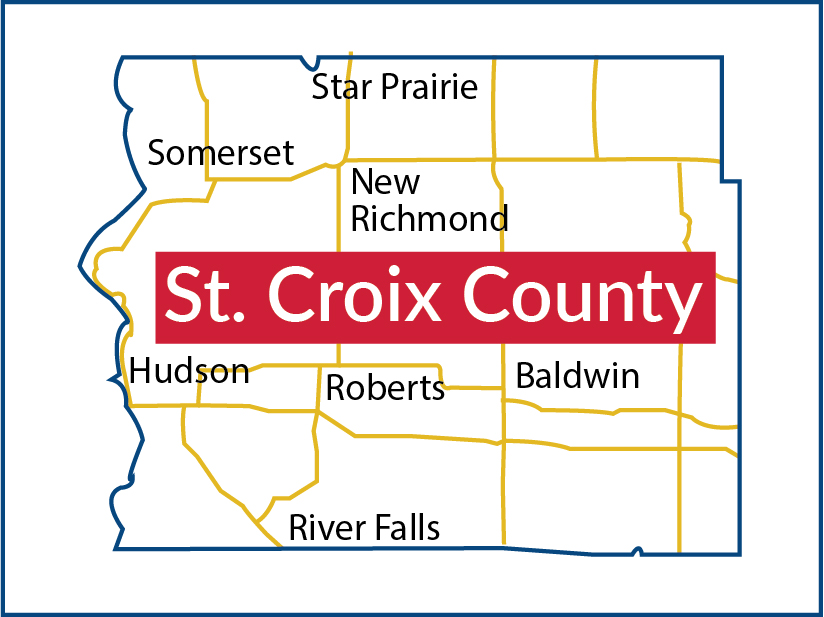 Map of St. Croix County, Wisconsin