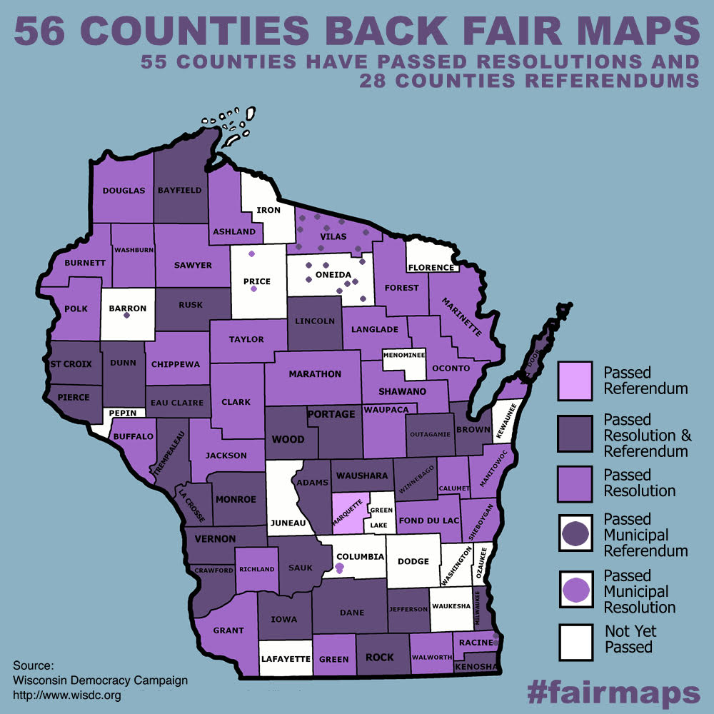WI 56 Counties Back Fair Maps