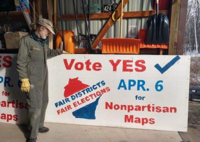 Fair Districts yard sign