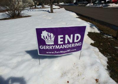 End Gerrymandering yard sign