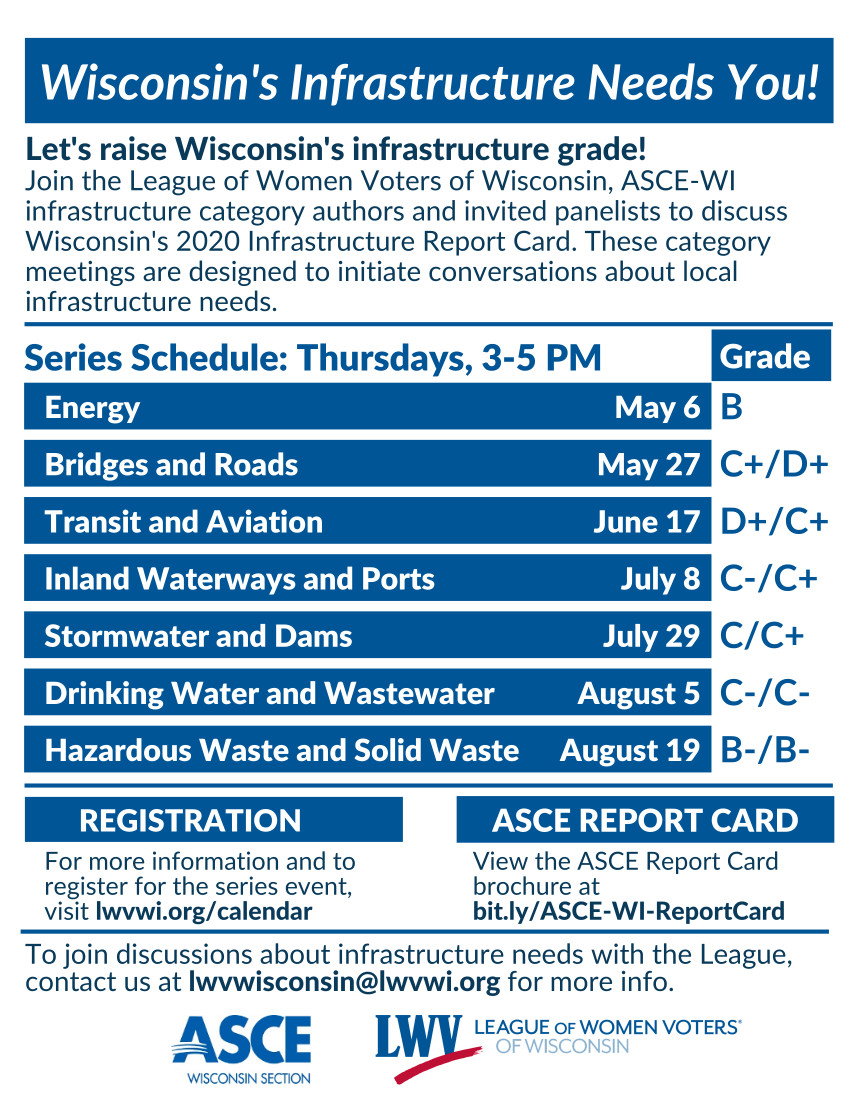 LWV-ASCE Infrastructure Catagory Series Flyer