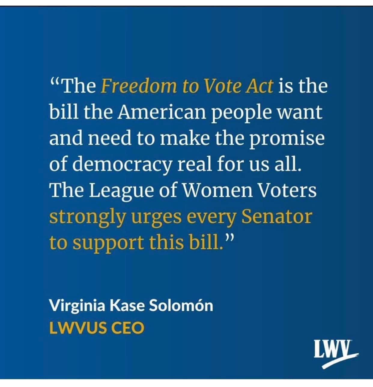 Freedom to Vote Act